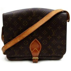 Auth Louis Vuitton Cartouchiere Gm #2867L16